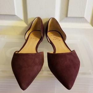 Banana Republic Plum Pointed Flat Shoes